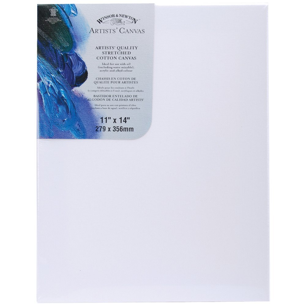 Winsor & Newton Artists\' Quality Stretched Cotton Canvas - 11 x 14 ...