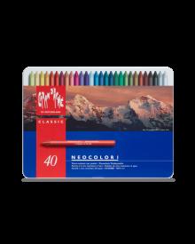 Caran d'Ache Neocolor I Wax Oil Crayons Ass. Pack of 40