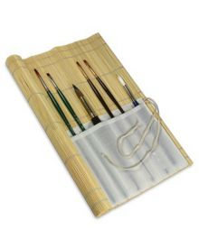 Long Handle Bamboo Brush Rollup