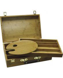 """Art Advantage Bamboo Sketch Box 9"""" W x 14"""" L x 3.5"""" D"""