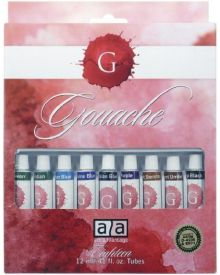 Art Advantage Gouache 18 Colour, 12 ml Tube Set