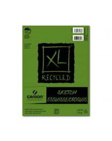 "Canson XL Recycled (Fold Over) Sketch Pad 100 Sheets, 18"" x 24"""