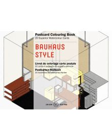 BAUHAUS STYLE: PEPIN POSTCARD COLOURING BOOK