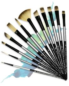 Dynasty Black Silver Long Handle Single Brushes
