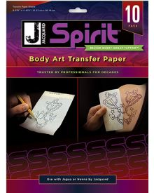 Jacquard Spirit Body Art Transfer Paper 10-Pack