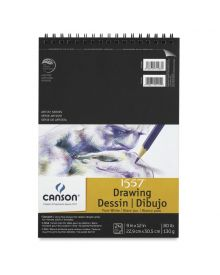 """Canson Pure White Drawing Pad (Top Wire) - 9"""" x 12"""""""