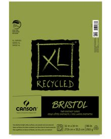 Canson XL-Bristol (Fold Over) 95 lb, 25 sheets 11 x 14 Inch
