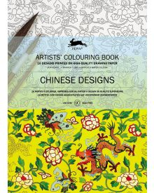 CHINESE DESIGNS: Artists' Colouring Books - Paperback