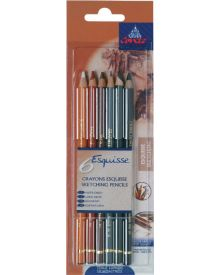 Conté Esquisse Sketching Pencils Set - Pack of 6