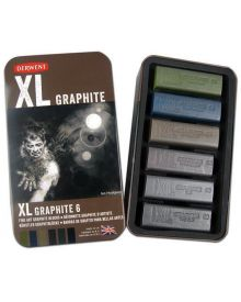 Derwent XL Graphite Tin Set - 6 in pk