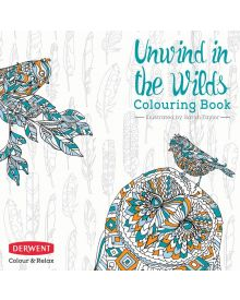 Unwind in the Wilds Colouring Book