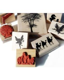 Encaustic Art Assorted Rubber Stamps