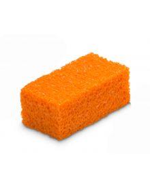 Encaustic Art Painting Orange Sponge