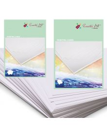 Encaustic Art White Painting Cards