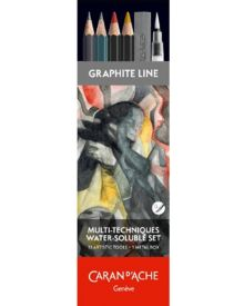 Caran d'Ache Multi-Technique Water-soluble Set of 13 tools in metal box