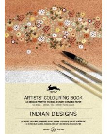 INDIAN DESIGNS: Artists' Colouring Books - Paperback