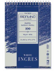 Ingres Spiral Pastel 100 Page/90g Pad - 8.25 x 11.75 Inch