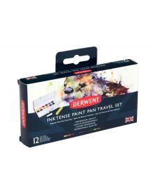 Derwent Inktense Paint 12 Pan Travel Set