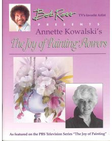 Bob Ross Joy of Painting Flowers Book by Annette Kowalski