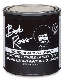 Bob Ross Liquid Black Oil Paint - 8 oz.