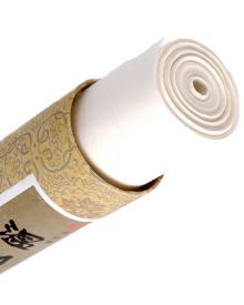 "Bleached Mulberry Paper Roll - White - 27"" x 35'"
