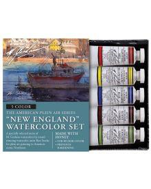 M. Graham New England 5-Colour Watercolour Paint Set