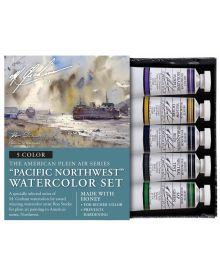 M. Graham Pacific Northwest 5-Colour Watercolour Paint Set