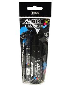 Pébéo 4Artist Marker Duo Set of (2mm+8mm) - Black