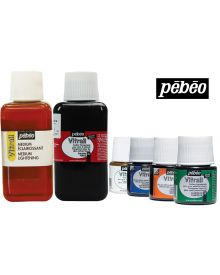 Pébéo Vitrail Transparent or Opaque (Glass) Paint