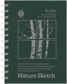 Nature Hard Cover Sketch Pad - 7 x 5 Inches