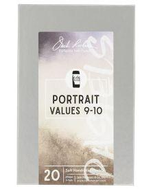 Richeson Hand Rolled Soft Pastel Portrait Values 9-10, 20 Piece Set