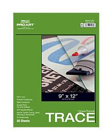 Trace Paper by Pro Art 50 Sheets - 18 x 24 inch