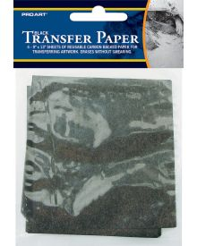 Pro Art Black Transfer Paper 9 x 13 inches - 4 Sheet Pack