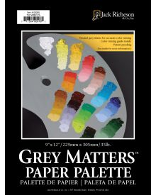 Jack Richeson Grey Matters Palette Pad 9x12-inch 50 Sheets