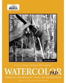 Jack Richeson Watecolour Pad 9x12-inch 12 Sheets