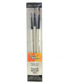 Simply Simmons To The Point Value 3-Brush Set