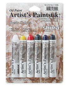 Shiva Artist's Oil Paintstik - Basic Set of 6