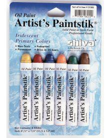 Shiva Artist's Oil Paintstik - Iridescent Set of 6