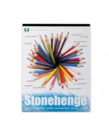 Stonehenge White Colour 100% Coton (15 Sheets) Pad - (250 gm) 11 x 14 inches