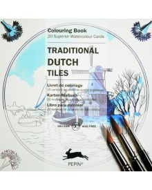 TRADITIONAL DUTCH SQUARE TILE: Artists' Colouring Paperback Book