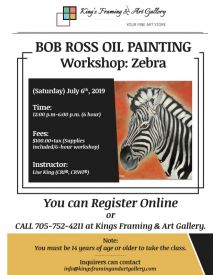 Bob Ross Oil Painting Workshop: Zebra, July 6th, 2019