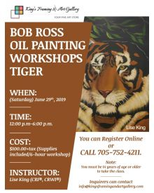 Bob Ross Oil Painting Workshops: Tiger, June 29th , 2019