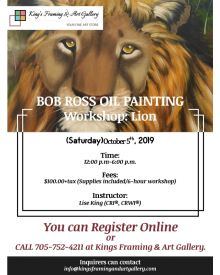 Bob Ross Oil Painting Workshop: Lion, October 5th, 2019