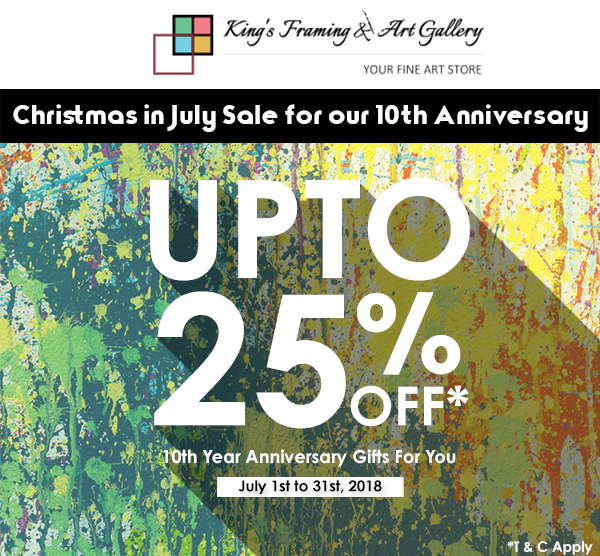 Christmas in July Sale for our 10th Anniversary