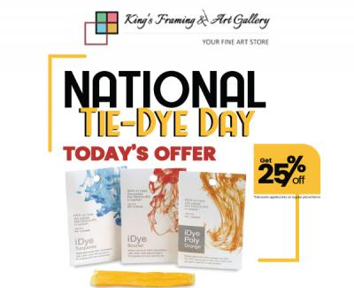 25% OFF* Only For Today - Celebrate National Tie Dye Day !!
