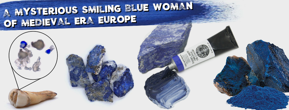 A Mysterious Smiling Blue Woman of Medieval-Era Europe